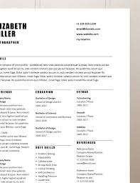 Simple Resume Template Word Curriculum Vitae