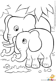 Free Coloring Pages Animals Elephants L L L L L