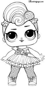 Lol Doll Coloring Pages Punk Boi