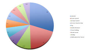 A Chart Of Dogs Pie Chart Of Top Breeds Dog Blog