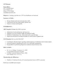 Lpn Resume Examples Tomyumtumweb Com