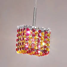small square multi coloured swarovski crystal pendant light