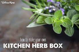 how to make a kitchen herb box