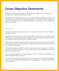 Examples Of Career Goals For Resume Sample Career Objective For
