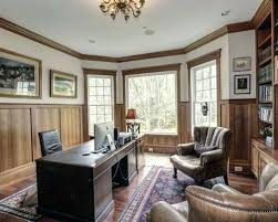 classic home office. Wood Panel Office Example Of A Classic Home Design In Dc Metro With White Walls