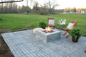 diy stone patio ideas how to build a patio with a built in fire pit diy diy stone patio