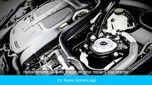 Car Repair Estimate App Youtube