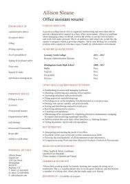 No Work Experience Office Assistant Resume Resume Pinterest Cool Office Assistant Duties On Resume