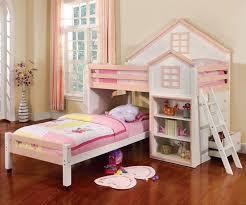 Loft Bedroom Furniture Citadel Loft Bed Pink Cm Bk131 Pink And White Finish Furniture