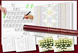 Pack Of 6 Family Tree Charts In A Deluxe Tube