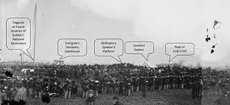 Image result for 1863 – American Civil War: U.S. President Abraham Lincoln delivers the Gettysburg Address at the dedication ceremony for the military cemetery at Gettysburg, Pennsylvania.