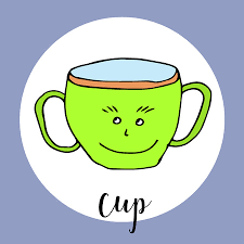 Look at links below to get more options for getting and using clip art. Childrens Drawing A Cup The Template For The Painting Hand Royalty Free Cliparts Vectors And Stock Illustration Image 68974642