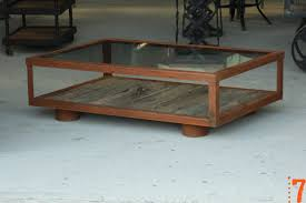 Industrial Glass Coffee Table Industrial Furniture Industrial Glass And Wood Coffee Table