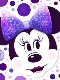 minnie mouse purple polka dots