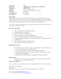 Bank Teller Resume Objective With Noxperience For Toreto Co Sample
