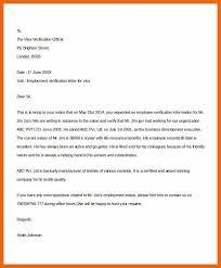 6 7 Sample Employment Verification Letter Csrproposal