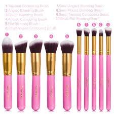 unicorn makeup brushes uses. amazon.com: makeup brushes: ilovecos professional cosmetic brush set for liquid or powder foundation(10 pieces gloden pink with velvet carry bag): beauty unicorn brushes uses m