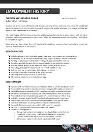 oil field service technician resume