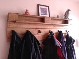 Pallet Coat Rack Gorgeous Reclaimed Pallet Coat Rack Wooden Pallet Furniture