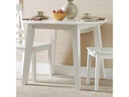 Jofran 3x3x3 White Round Drop Leaf Table That Seats 4 For Dining
