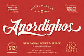 Anordighos Font By Kotak Kuning Studio Creative Fabrica In 2020 Script Typeface Hand Lettering Styles Logo Fonts