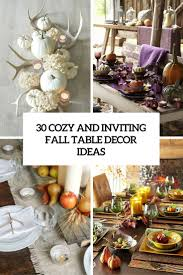 30 Cozy And Inviting Fall Table Dcor Ideas