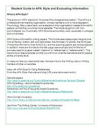 Academic Writing Help Centre Apa Style College Paper Example