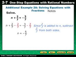 evaluating algebraic expressions 2 7 one step equations with