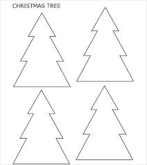 Christmas Tree Stencil Printable Colouring Tree Template Xmas Tree Template Christmas Tree