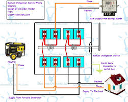 single phase generator wiring diagram single image manual changeover switch wiring diagram for portable generator on single phase generator wiring diagram