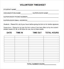hour log template volunteer hours log template