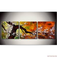 abstract paintings 3pcs canvas set modern acrylic on canvas wall art 20x60 inches large 0040 3 piece
