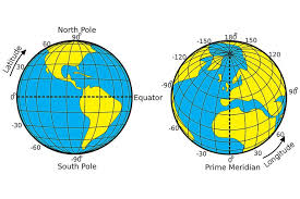 Latitude Scale Chart The Distance Between Degrees Of Latitude And Longitude
