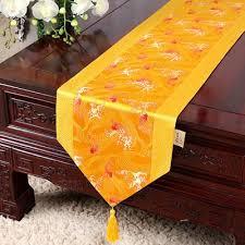 latest long luxury silk fabric table