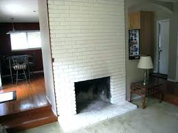white painted brick fireplace white painting brick fireplace ideas design painted pictures before and after how