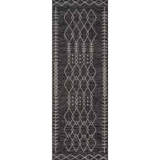 villa monaco charcoal 2 ft 7 in x 7 ft 6 in