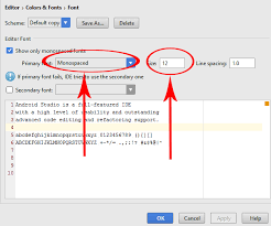 increase size how to increase font size in android studio code editor android