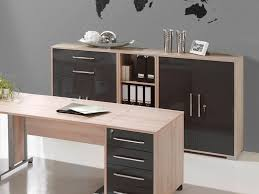 office sideboard. Maja, Modern Office Storage Sideboard With Shelves And Paper Compartment In Noble Beech High