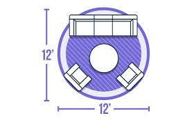 round rug graphic area rug size guide