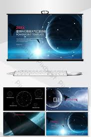 Sci Ppt Planet Sci Fi High End Style Business General Ppt Background