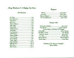 Christmas Program Sample Lafayette Genealogical Society Christmas Banquet Program