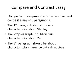 holes compare the similarities between things contrast  compare and contrast essay use you venn diagram to write a compare and contrast essay of