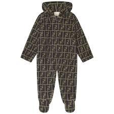 Designer Baby Pram Suit Fendi Ff Logo Baby Pramsuit Baby Girl Designer Clothes