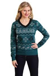 Philadelphia Eagles Sweater With Lights Philadelphia Eagles Womens Light Up V Neck Bluetooth Sweater