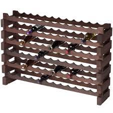 modularack wooden wine rack 72 bottle dark stain 6h x 12w
