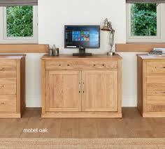 picture mobel oak large hidden office. Baumhaus Mobel Oak Large Hidden Office Twin Pedestal Desk - Nico Furniture Picture