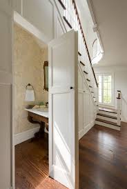 ... Wonderful Under The Stairs Powder Room Donald Lococo Architects Classic  American Foursquar And Under The Desk ...