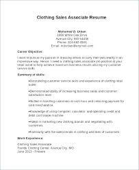 Resume Of Sales Associate Mazard Info