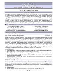 Accounts Payable Resume Template Account Payable Resume Display Your Skills As Account Payable 19