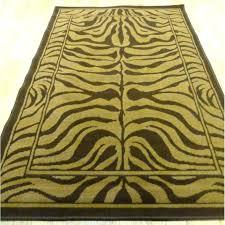 zebra print rug 8x10 brown zebra rug brown zebra rug brown and cream zebra rug brown